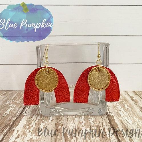 2 pieces arc Earrings