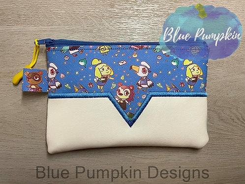 3 sizes V Applique Zipper Bag Design