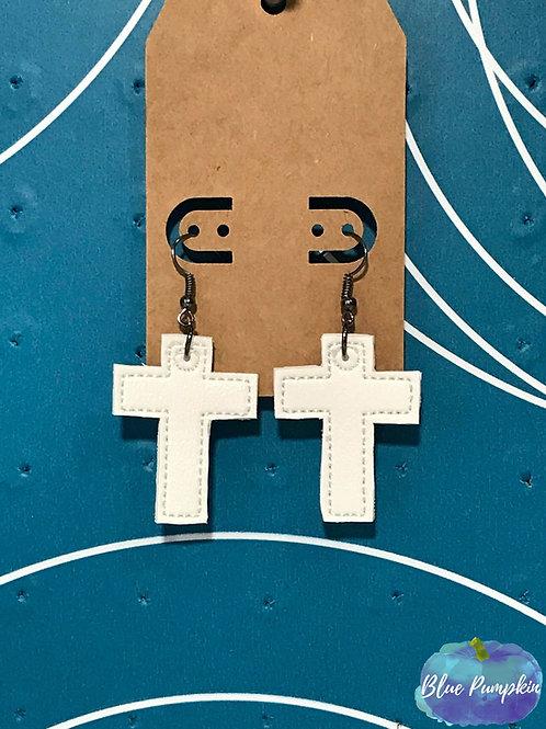 Cross ITH Earring Design