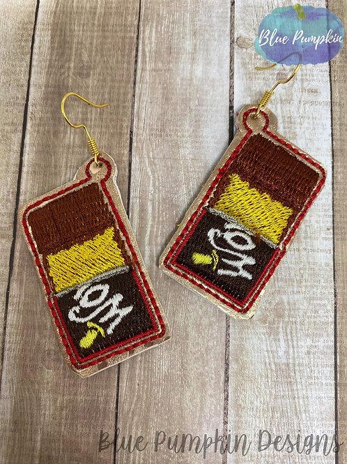 Gold Ticket Chocolate Bar Earrings