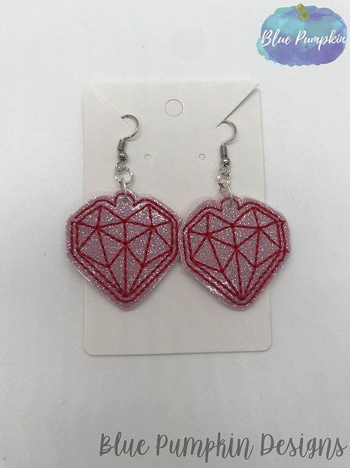 Geo Heart Earrings