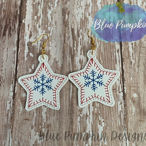 Stars with Snowflakes Earrings