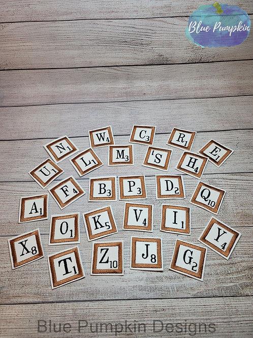 2in Tile Alphabet