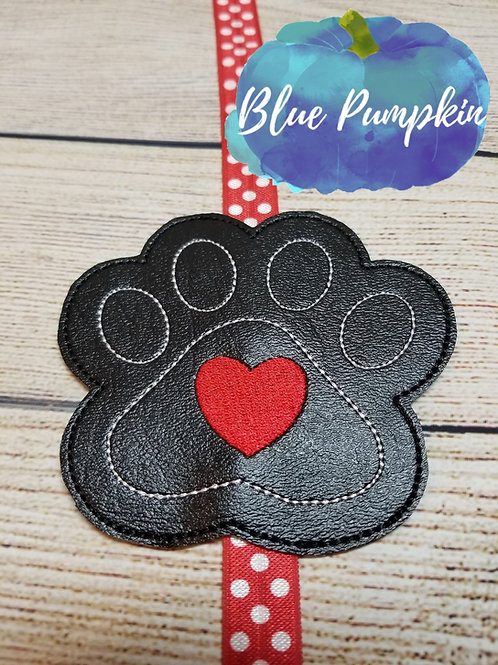 Paw Print with Heart Planner Band