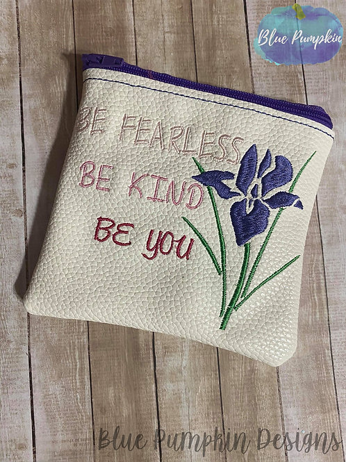 Be Fearless 5x5 ITH Bag Design