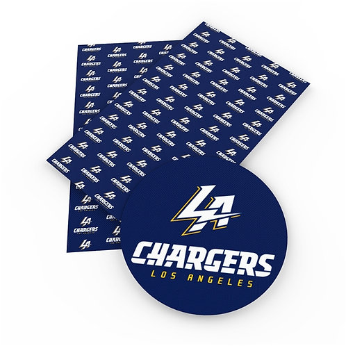 LA Chargers Large Print Embroidery Vinyl