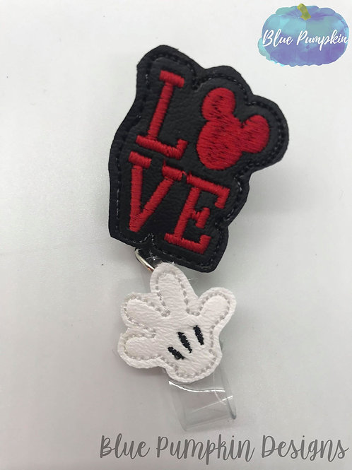 Love Mouse Badge Reel Feltie Design