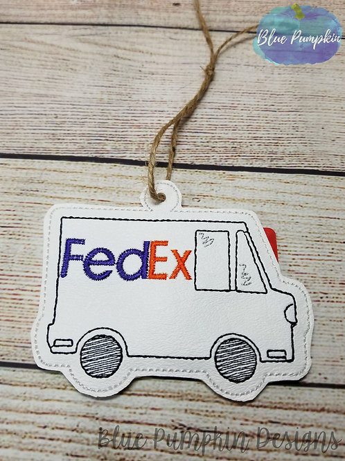 Fed Ex Ornament and Gift Card Holder