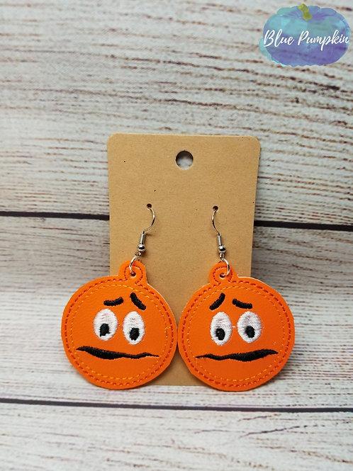 Orange Candy Guy Earrings