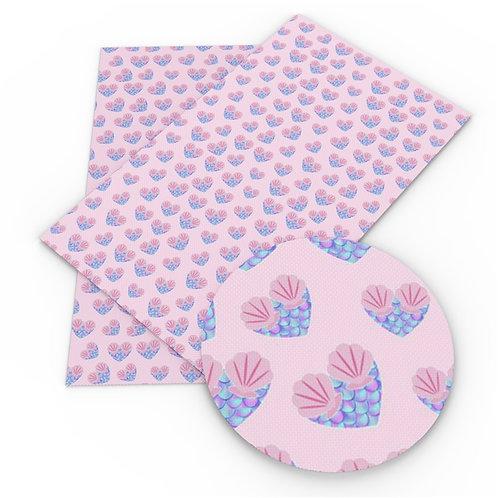 Mer Hearts Embroidery  Vinyl
