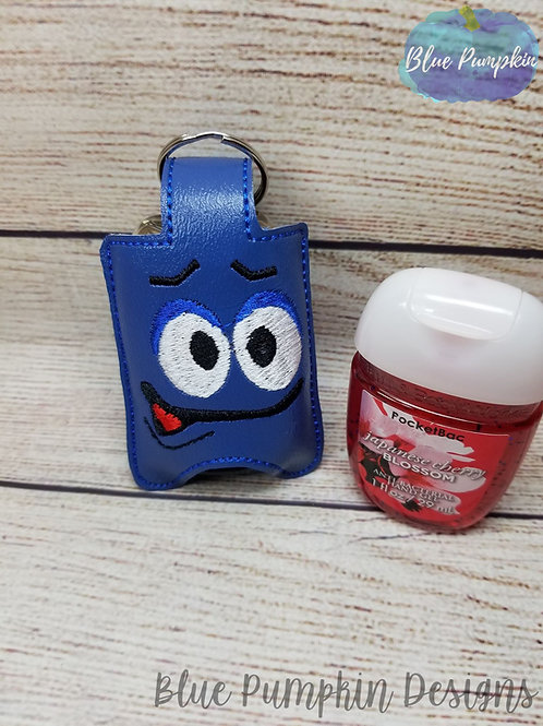 Blue Candy Hand Sani Holder