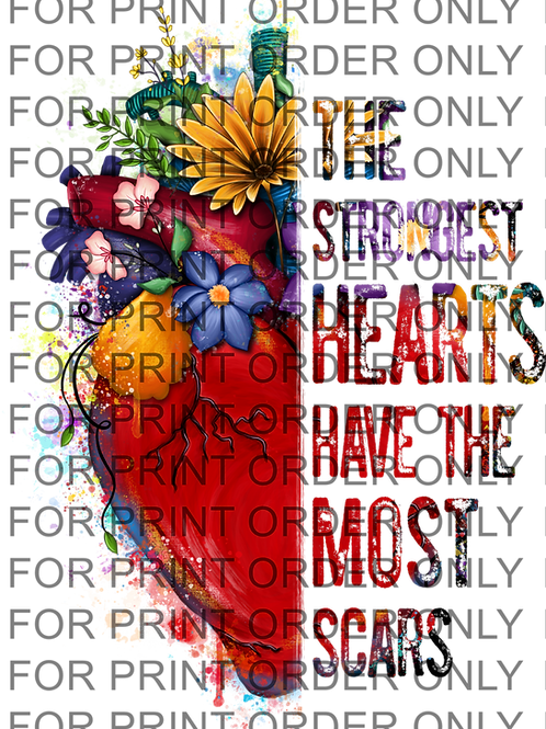 Heart Scars SUBLIMATION PRINT