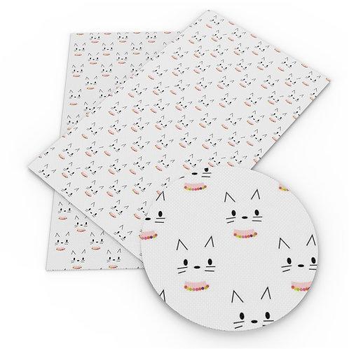 SECONDS Cutie Cat Faces Embroidery Vinyl