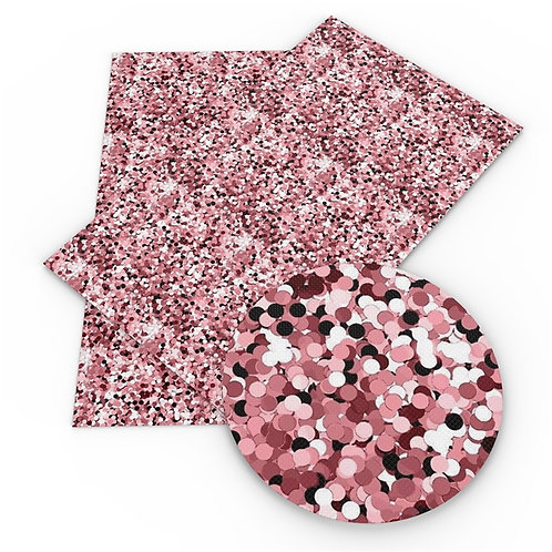 Large Pink Faux Glitter Embroidery Vinyl