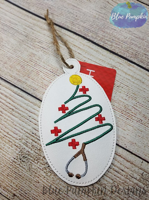 Stethoscope Ornament and Gift Card Holder
