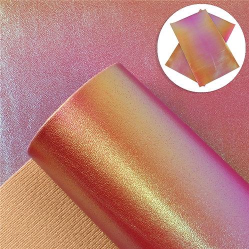 Pink Orange Iridescent  Embroidery Vinyl
