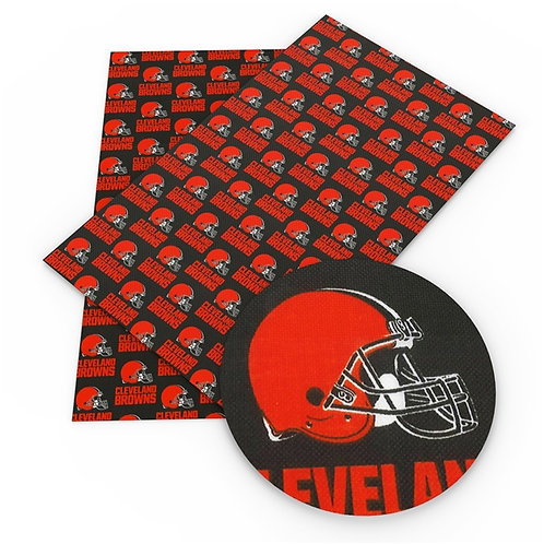Browns Print Embroidery Vinyl