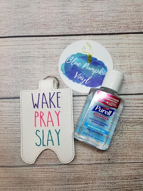 2oz Wake Pray Slay Sani Bottle Holder
