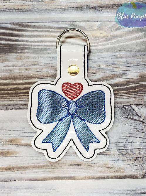 Bow Heart Key Fob