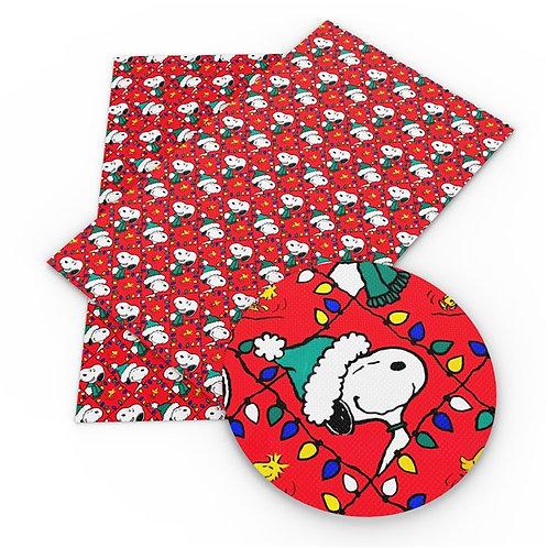 Christmas Lights Dog Embroidery Vinyl