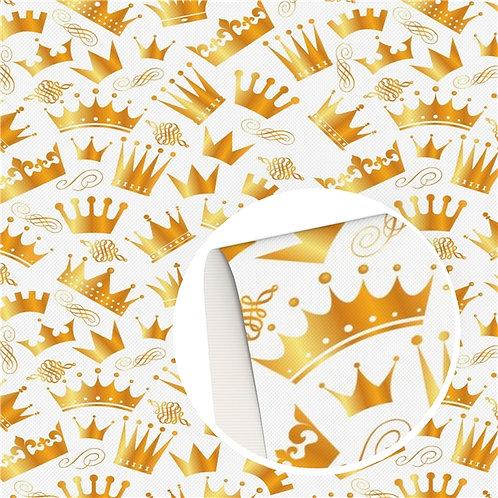 Crowns Printed Embroidery Vinyl