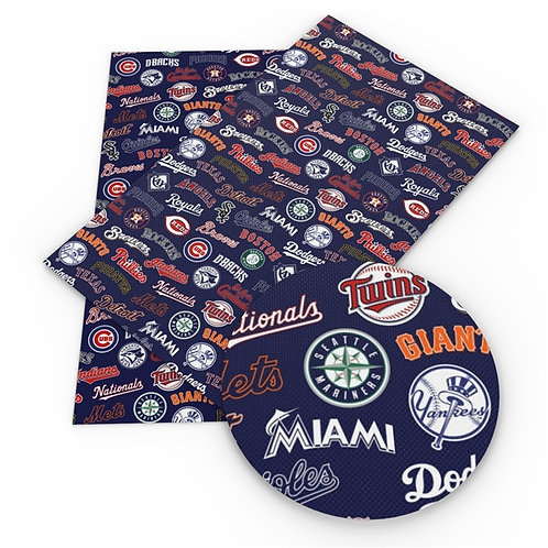 All Baseball Teams Embroidery Vinyl