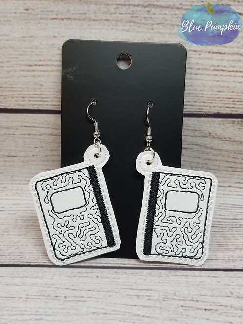 Composition Notebook Drop Earrings