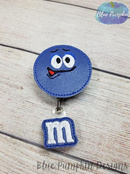 Blue Candy badge Reel Feltie Design