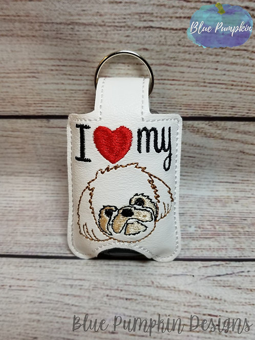 1oz Love Shih Tzu Sani Bottle Holder