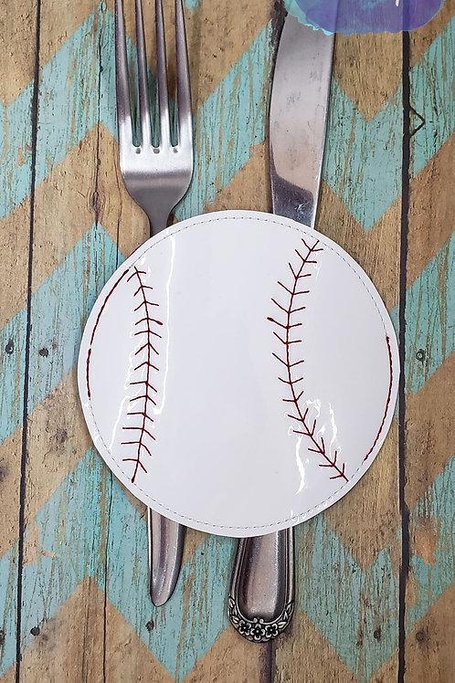 Baseball Silverware Holder
