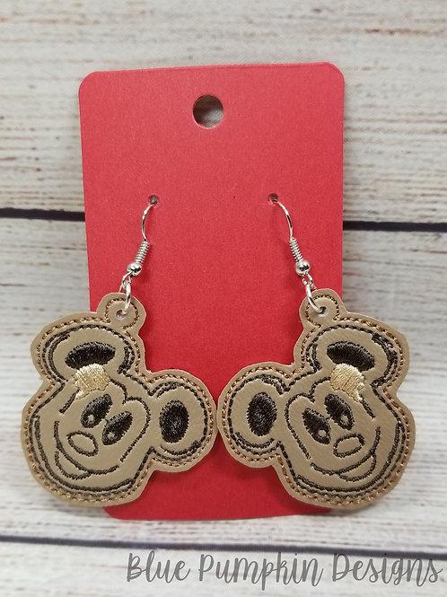 Waffle Mouse Earrings