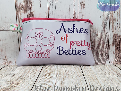 Ashes of Petty Betties ITH Zipper Bag Design