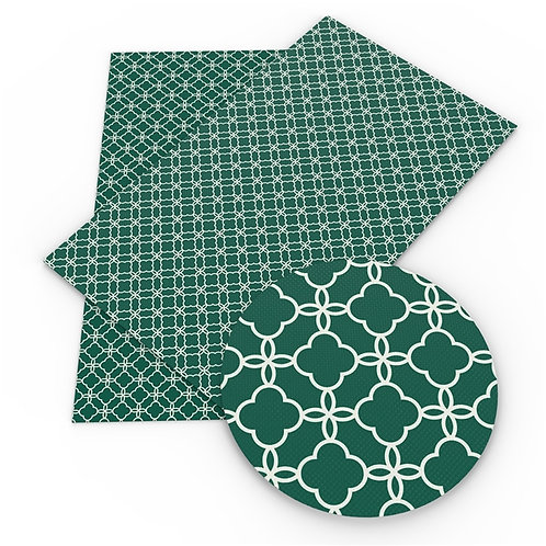 Green Pattern Trefoil  Embroidery Vinyl