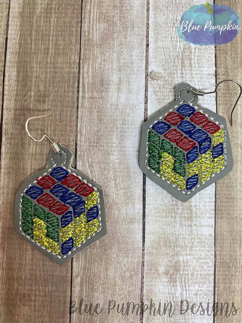 80s Cube Earrings