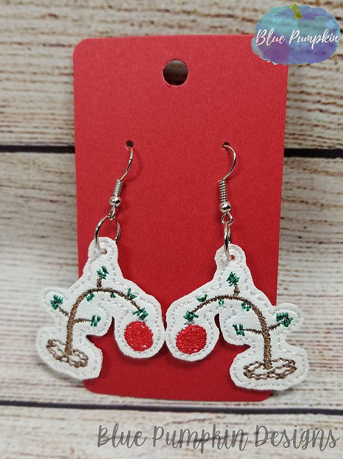C Brown Tree Earrings