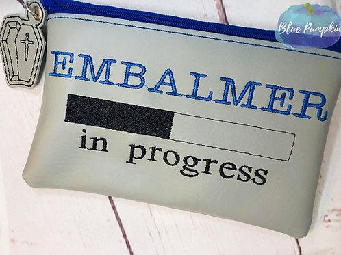 Embalmer in Progress ITH Zipper Bag Design