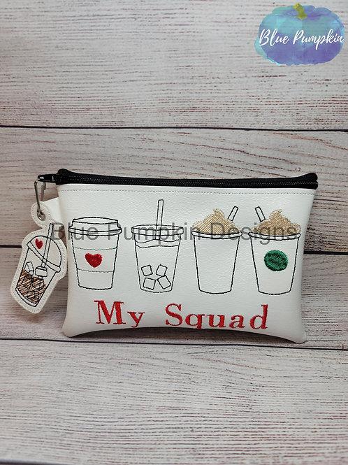 5x7 My Squad Coffee Bag ITH Bag Design