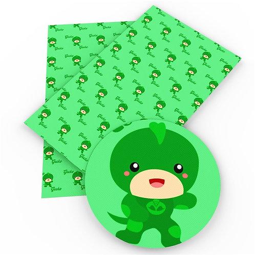 Green PJ Mask Owls Printed Embroidery Vinyl