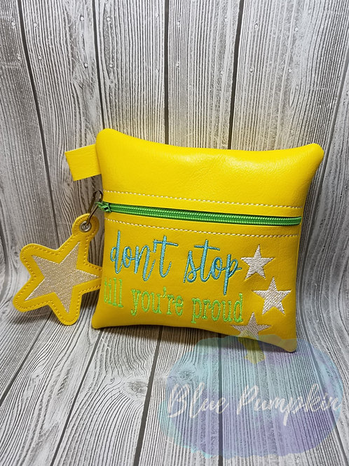Don't Stop ITH Zipper Bag Design