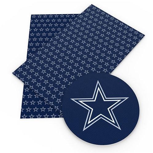 Blue Cowboy Star Embroidery Vinyl