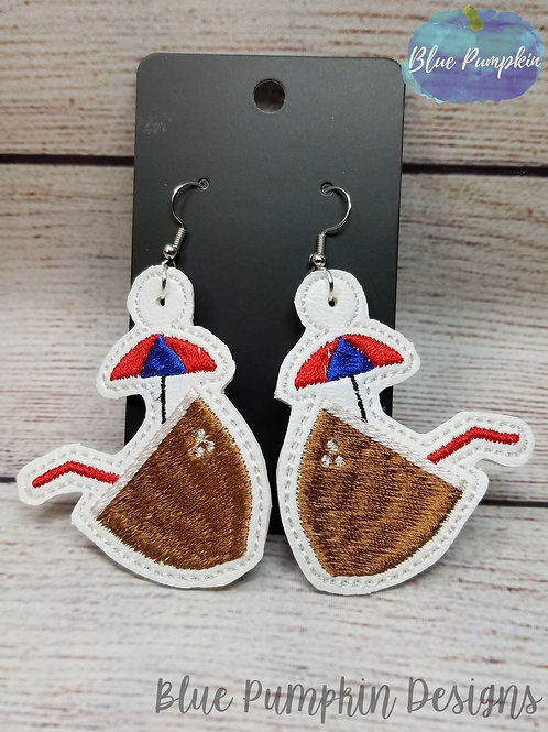 Coconut Drink Earrings