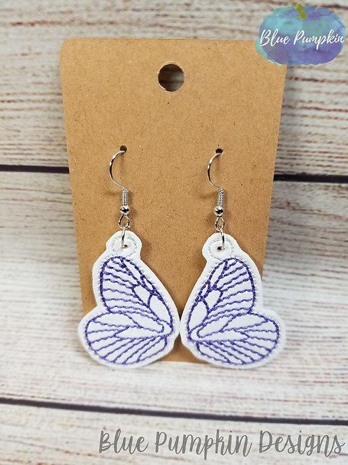 Outline Butterfly Wings Earrings