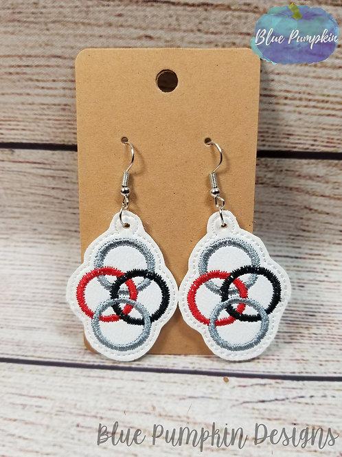 4 Circles Earrings