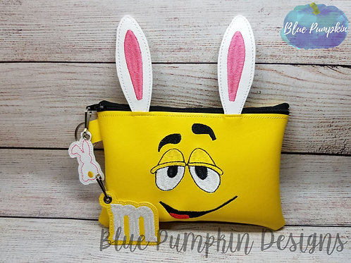 5x7 Yellow Candy Bunny ITH Zipper Bag Design