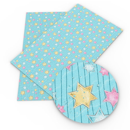 Blue Speckled with Stars Embroidery Vinyl