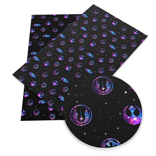 Cosmos Science Fiction Printed Embroidery Vinyl