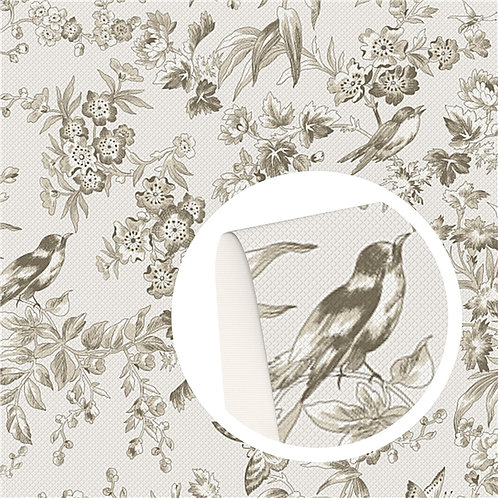 Birds Printed Embroidery Vinyl