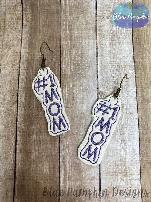 #1 Mom/Mum Earrings