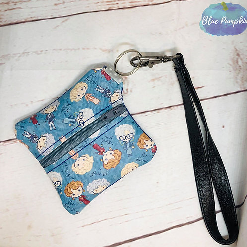 Square Wristlet Hardware ITH Zipper Bag Design