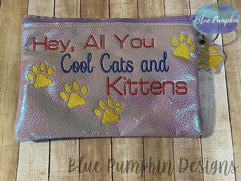 Cool Cats and kittens ITH Bag Design